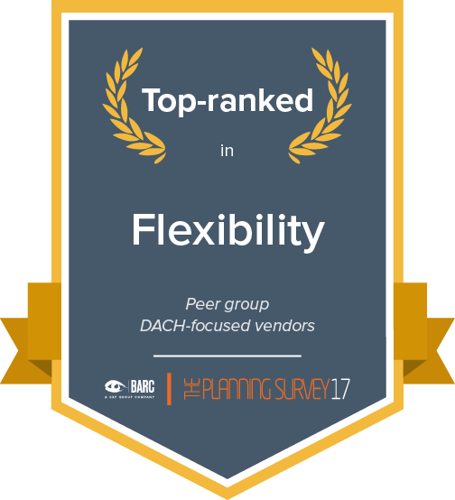 Top ranked in flexibility in the DACH-focused vendors peer group