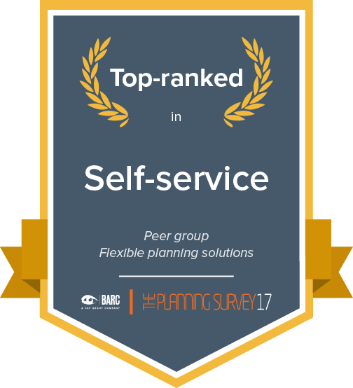 Top ranked in self-service in the flexible planning solutions peer group