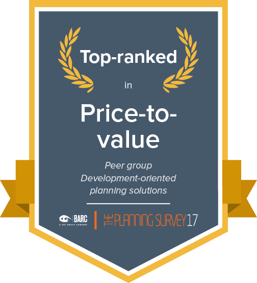 Top ranked in price-to-value in the development-oriented planning solutions peer group