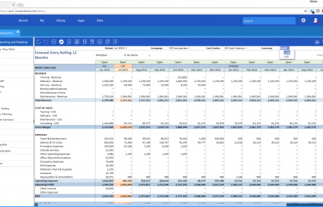 Planning Budgeting Forecasting - rolling forecasts