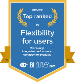 Top ranked in flexibility for users in the integrated performance management products peer group