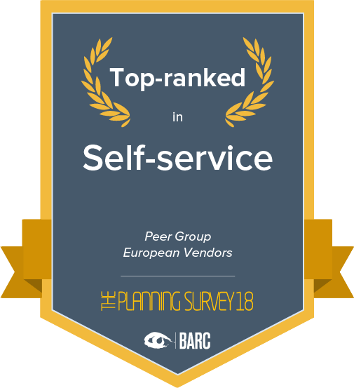 Top ranked in self-service in the european vendors peer group