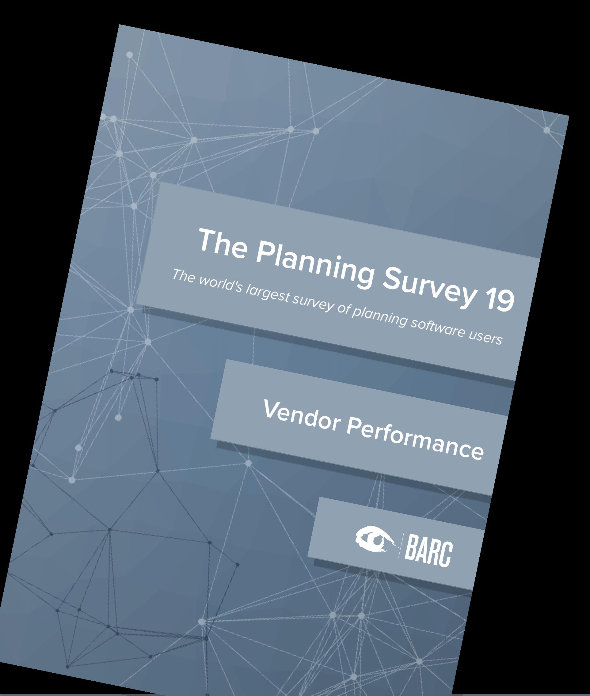 Planning Survey Vendor Performance Report